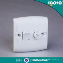 Igoto E135-F British Standard 1gang Contrôleur de vitesse de ventilateur Interrupteur mural / Interrupteur / Interrupteur mural étanche