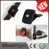 Watch-Style Pager Elderly Patient Call Nanny Suite Pager System
