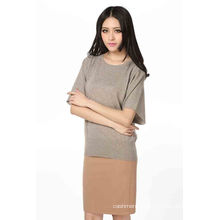 Ladies Fashion Cashmere Pullover in Short Sleeve (3086-2013025)