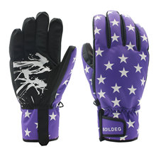 Hot Stamp Outdoor Sports Waterproof Warm Keeping Ski Gloves