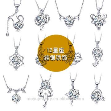 2015 Colgante Collar Joyas en plata esterlina