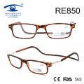 2017 New Patch Fashion Óculos de leitura magnética de plástico (RE850)