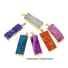 Gets.com 2015 Fashion Natural Agate Druzy Pendant
