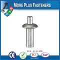 Made In Taiwan Brazier Head Aluminum Black Phosphate Drive Rivets