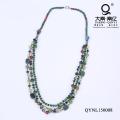 Collar de perlas de cristal verde Regalos del Día de la Madre