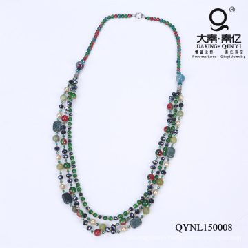 Green Glass Pearl Necklace Mother′s Day Gifts