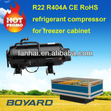 refrigerated cake display cases with R404a horizontal refrigerator compressor