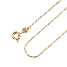 43844 xuping personalizado fecho magnético fornecedor chinês mais popular 18k banhado a ouro colar chian