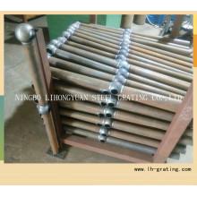 Barandillas de acero galvanizadas para la escalera
