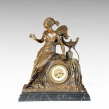 Uhr Statue Schmetterling Fairy Bell Bronze Skulptur Tpc-027