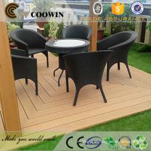 2016 novo produto na China wpc decking também chamado wpc pavimento exterior feito de plástico de madeira