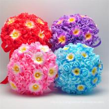 Красочные романтический wholesaleartificial цветной красивый свадебный букет