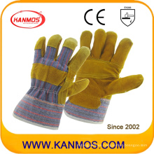 Patched Palm Seguridad Industrial cuero de vaca dividido guantes de trabajo (11001-1)