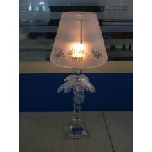 Lâmpada de vidro da vela para a decoração do casamento