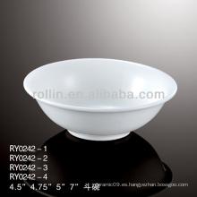 """Cuenco de arroz de 4,5 """", porcelana y recipiente de cerámica utilizado en hotel y restaurante"""