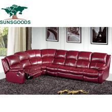 High Quanlity Reclining Sofa Bed &Sofa Genuine Leather 8 Seater Sofa Set