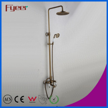 Fyeer Exposed Shower Bathroom Antique Rainfall Bath Shower Mixer