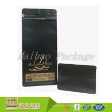 Bolsas de té que se pueden volver a sellar plásticas del café de la cerradura de la cremallera de la hoja mate impresa aduana de la categoría alimenticia que empaquetan