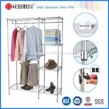 Especial Popular DIY Metal Wardrobe Roupas Rack com aprovação NSF