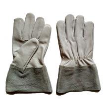 Gant de chèvre en cuir de céréales et gants de soudage TIG pour travailleurs