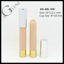 Plástico redondo tubo do batom/Lipsitick Pen AG-AEL-45E, tamanho do copo 9,8 mm, embalagens de cosméticos do AGPM, cores/logotipo personalizado