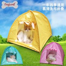 Chine fournisseur en gros doglemi flodable animal tente pour chat