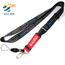 2colors Key Chain Lanyard Clip with Webbing Strap Quick Release Buckle