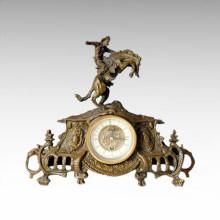 Statue de l'horloge Knight Bell Bronze Sculpture Tpc-026