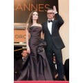 CN01 Fashion Angelina Jolie Cannes 2015 Evening Gowns Celebrity Red Carpet Dresses