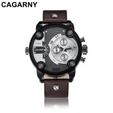 Cagarny Multifunction Wristwatch for Men Gold and Black Color Case