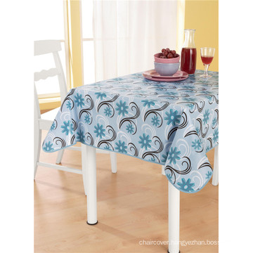 High Quality Popular Promotional PVC Printed Tablecloth with Backing