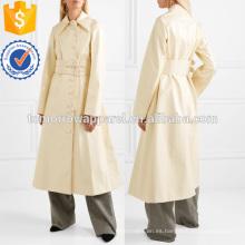 Sobredimensionado con cinturón de imitación de cuero de la gabardina Fabricación de prendas de vestir al por mayor de moda de las mujeres (TA3020C)
