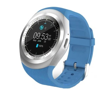 Round capacity screen smart watch with camera