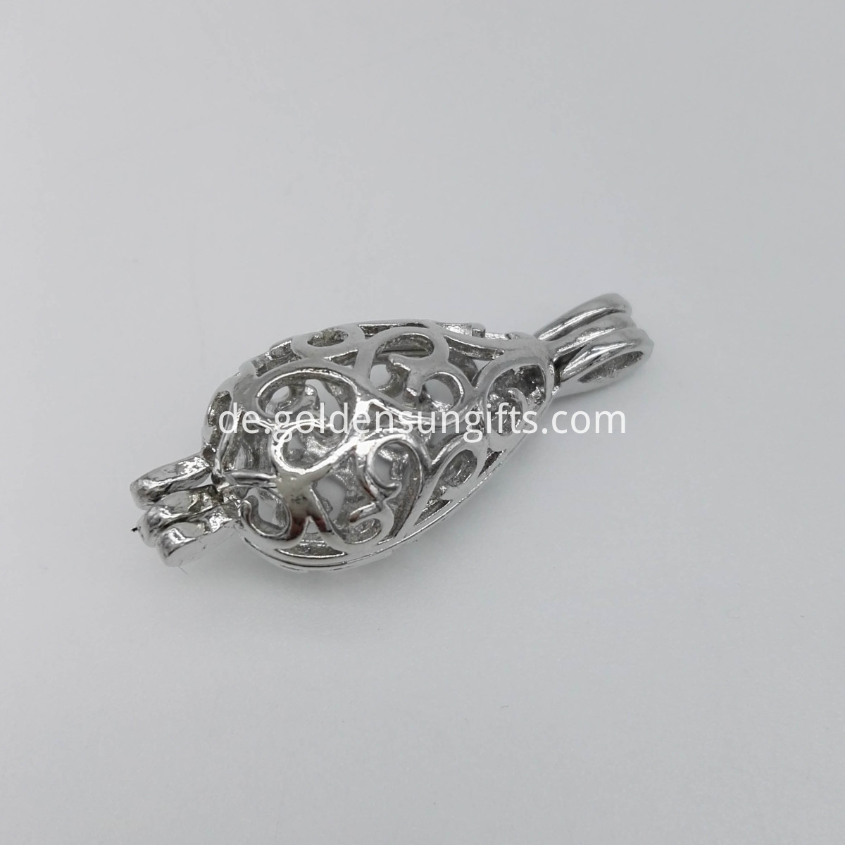 Silver Plated Cage Pendant