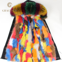 Top quality winter fur parka buy with fur lining