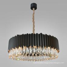 China manufacturer factory supplier crystal E14 bulb pendants lamp modern chandelier light