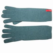 Guantes calientes hechos punto de moda del invierno de lana de las mujeres largas (YKY5434)