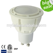 Intertek CE ROHS 600Lumen GU10 7W Lampes LED dimmable SMD2835