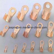 Terminais de conexão / tipo ot passando por terminais de cobre
