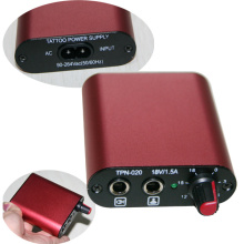 Pocket Red Aluminium Tattoo Power Supply