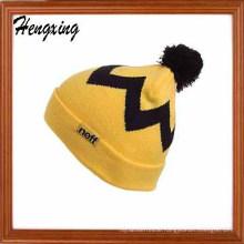 Jacquard Beanies Bobble Hat