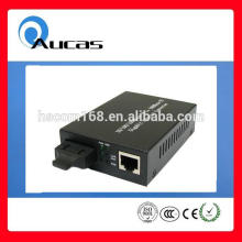 Aucas high quality 10/100M/1000M fiber to rj45 converter sfp media converter