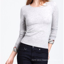 15PKCAS17 women's cheap cottonwinter high quality crewneck cashmere sweater
