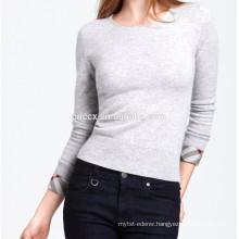 15PKCAS17 women's cheap cottonwinter high quality crewneck cashmere sweater