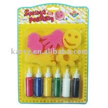 Sponge stamp paint set2 (produto diy, brinquedo diy)