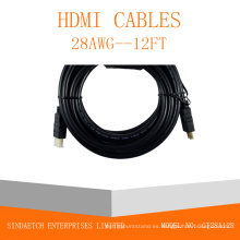 Enchufe de oro macho-macho cable HDMI