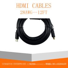 Позолоченный штекер Мужской-мужской кабель HDMI
