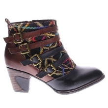 Western Inspired Design Hq Leather Ankle Boots