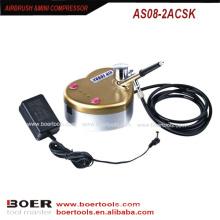 Airbrush mini compressor kit nail art mini compressor