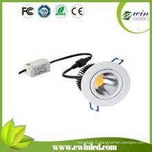 La meilleure vente 6W COB LED Downlight pour l'éclairage de bureau à la maison